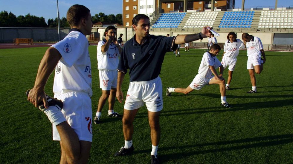 Canedo Guijuelo Real Oviedo Vetusta Segunda B Municipal Luis Ramos.Emilio Cañedo, durante el Guijuelo - Vetusta