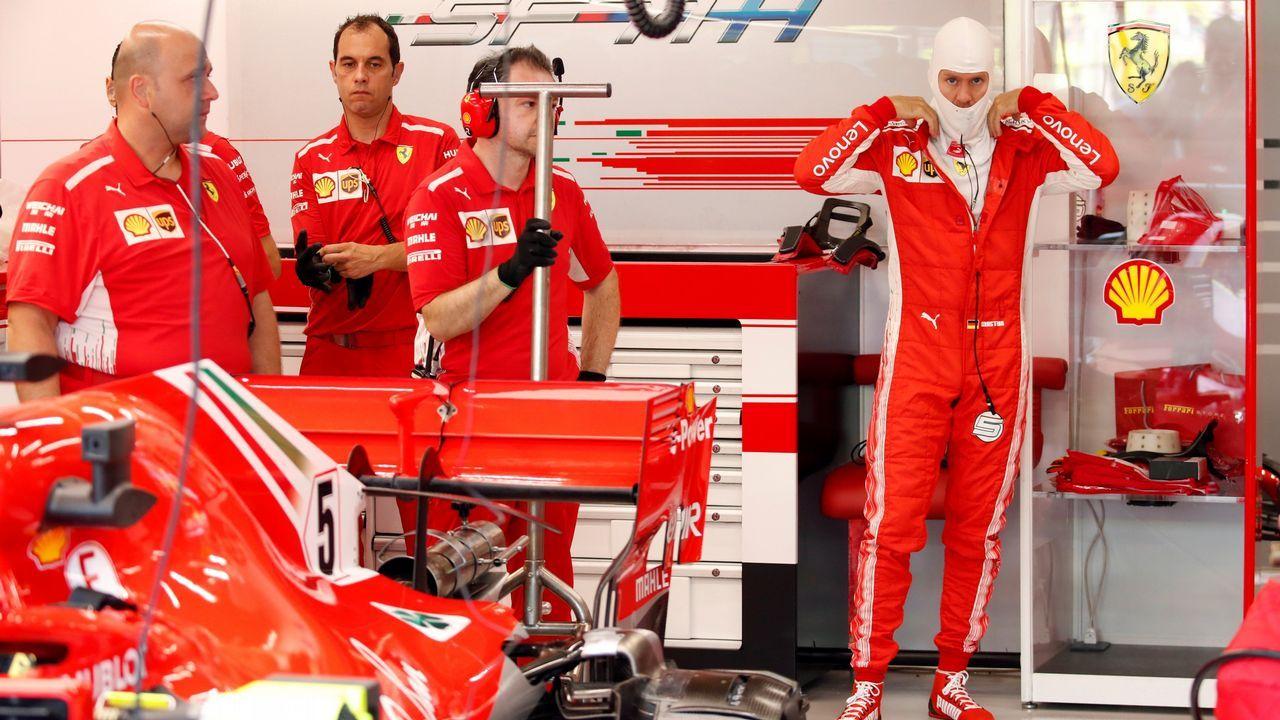 Fernando Alonso, durante la clasificación del GP de Rusia