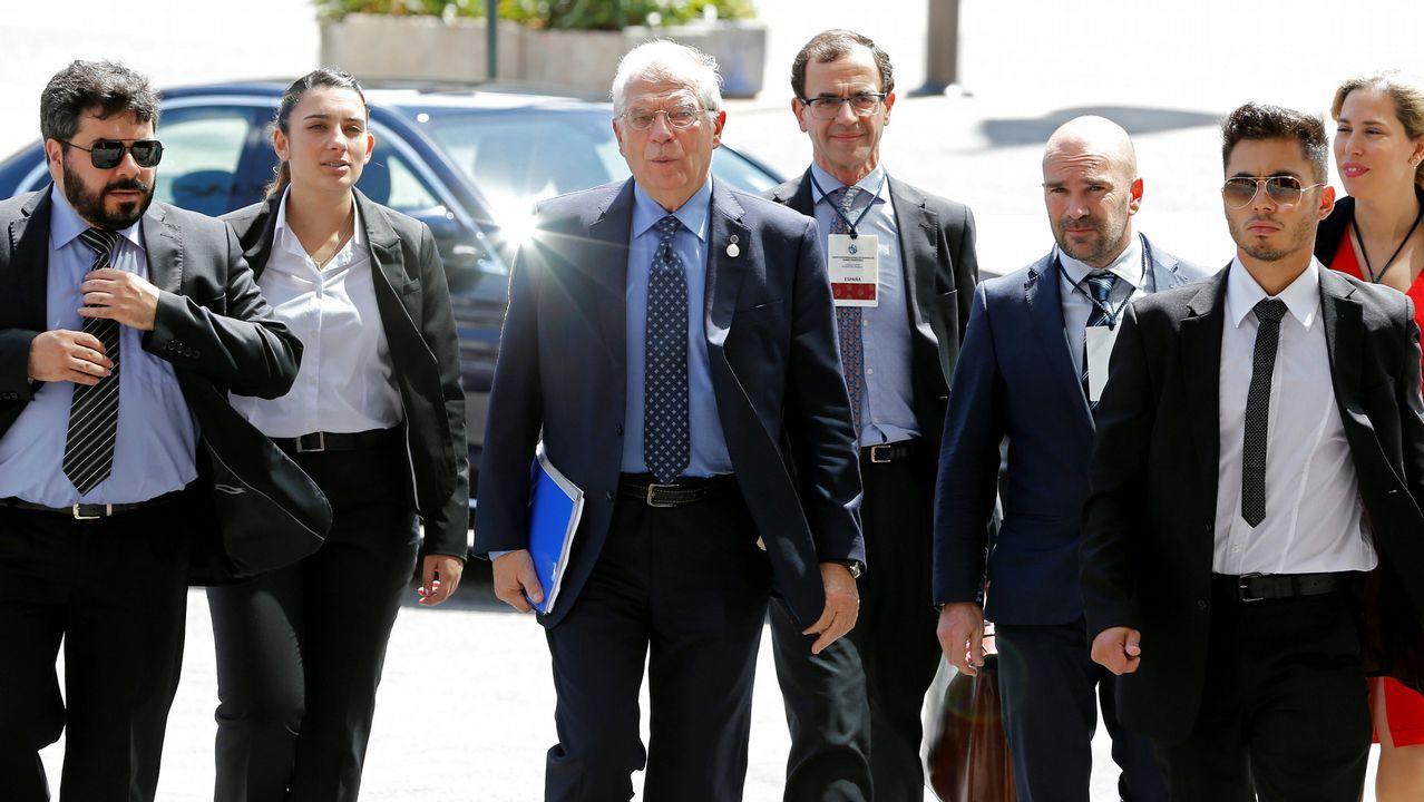 gasolinera, repostar, gasolina, estación de servicio.Josep Borrell a su llegada a la reunión en Montevideo del Grupo Internacional de Contacto sobre Venezuela