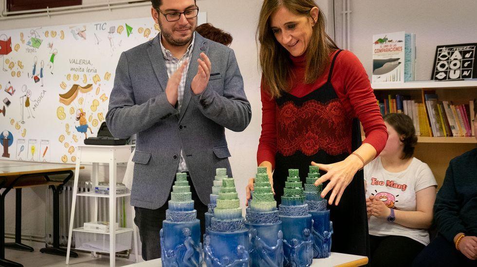 Los otros belenes de Ourense.Los galardonados recibirán estatuas elaboradas por los alumnos del Centro de Educación Especial Manuel López