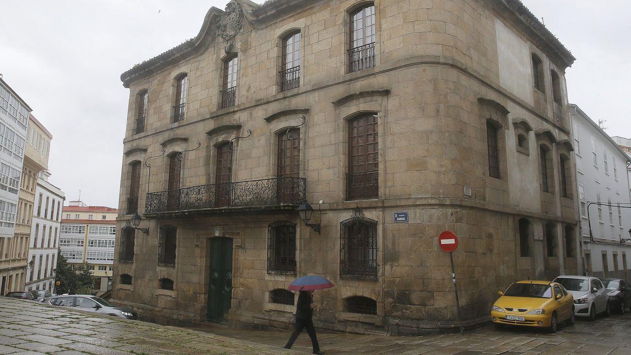 Imagen de la Casa Cornide, en el centro de la ciudad de A Coruña