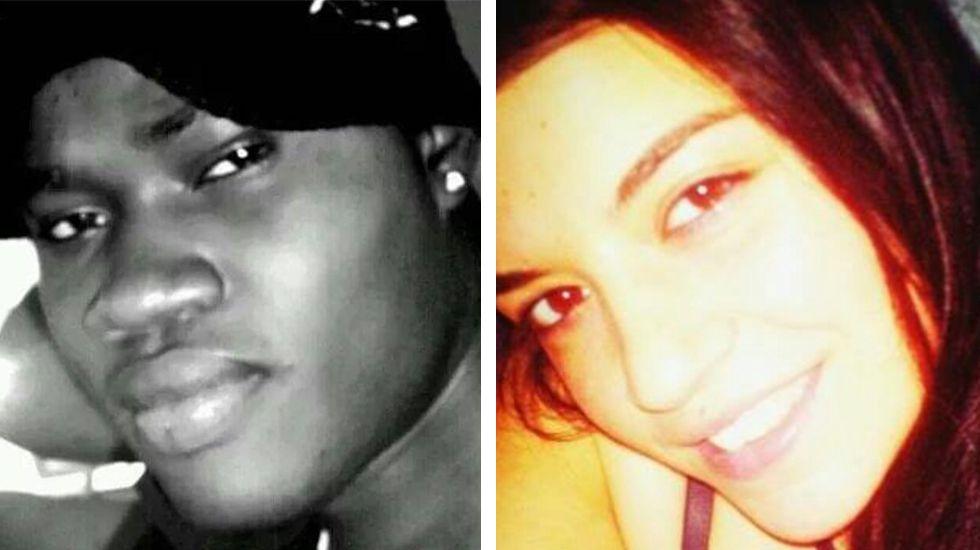 Ibrahima N. (izquierda) y Tatiana Vázquez, la chica asesinada (derecha)