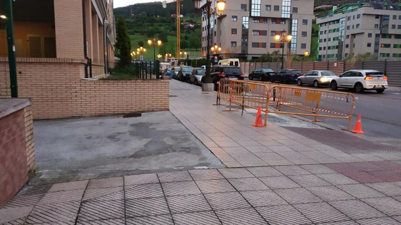 Obras en los pasos de peatones de Ciudad Naranco