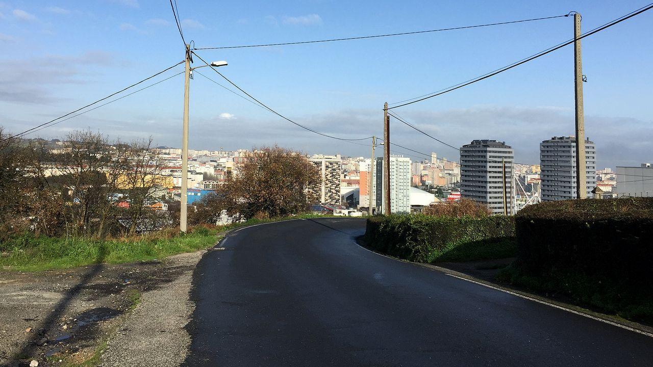 Castro de Elviña: calles sin aceras