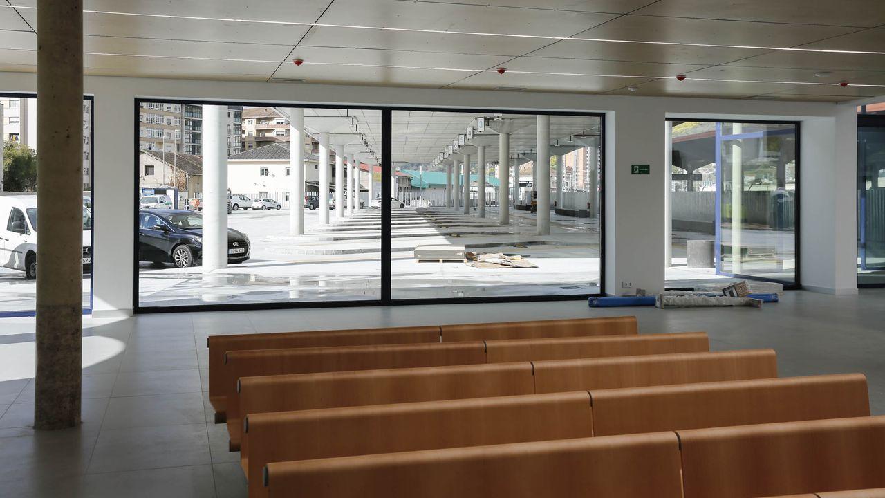 Obras en la terminal de buses de la intermodal