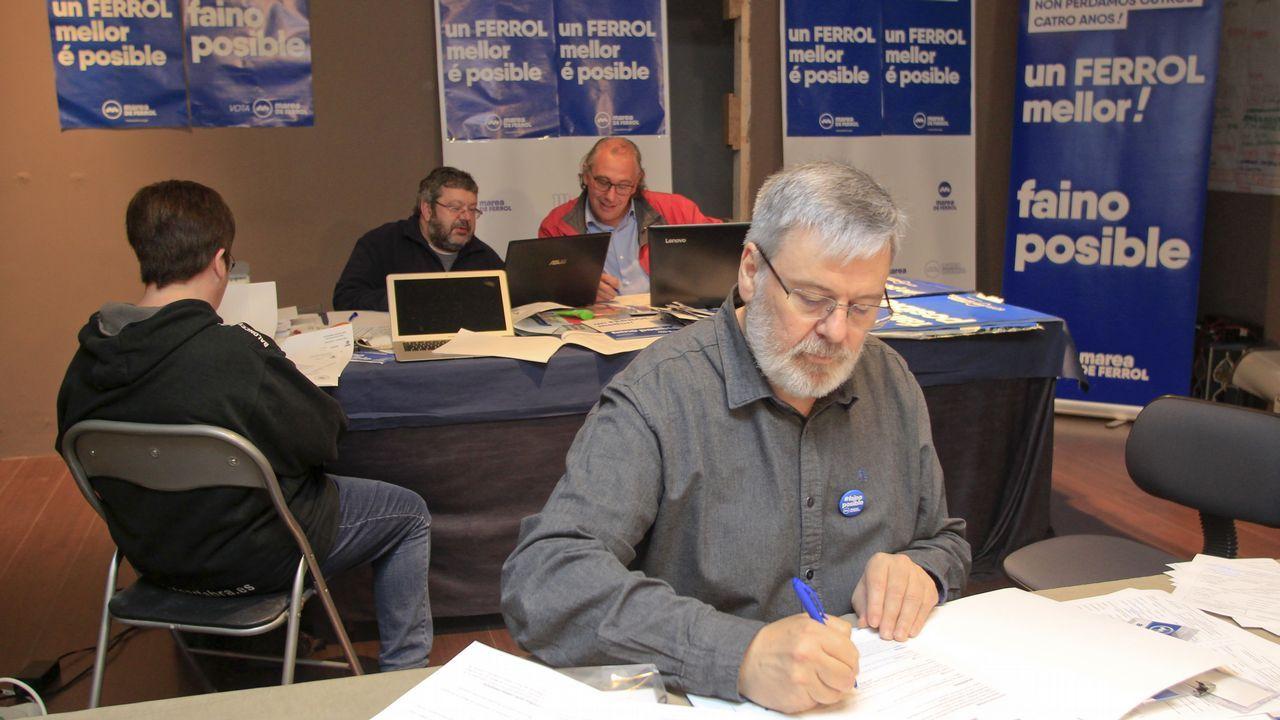 Bernardo Lorenzo trabajó en el local de campaña.
