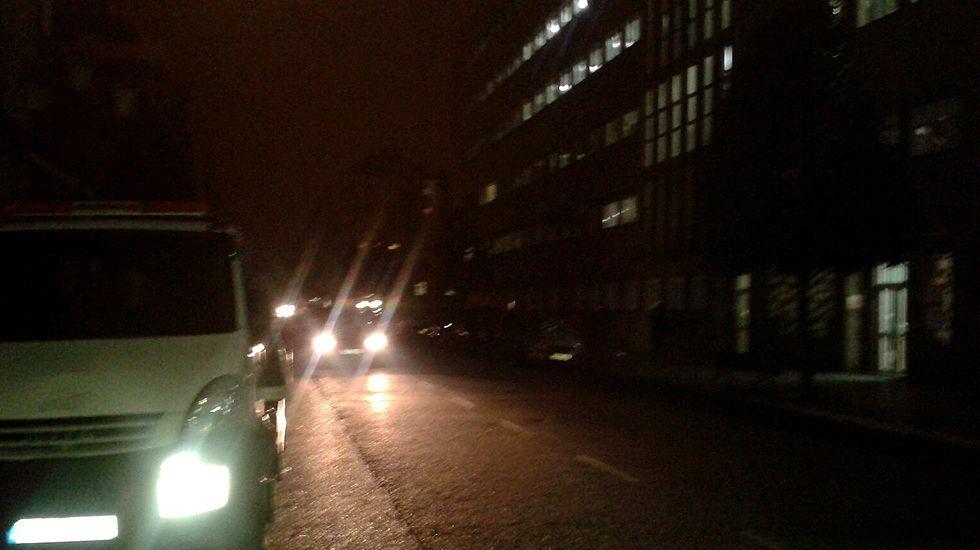 Calles de Oviedo a oscuras