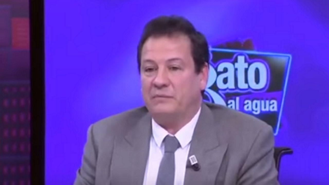 Fernando Paz (Vox) durante una intervención televisiva