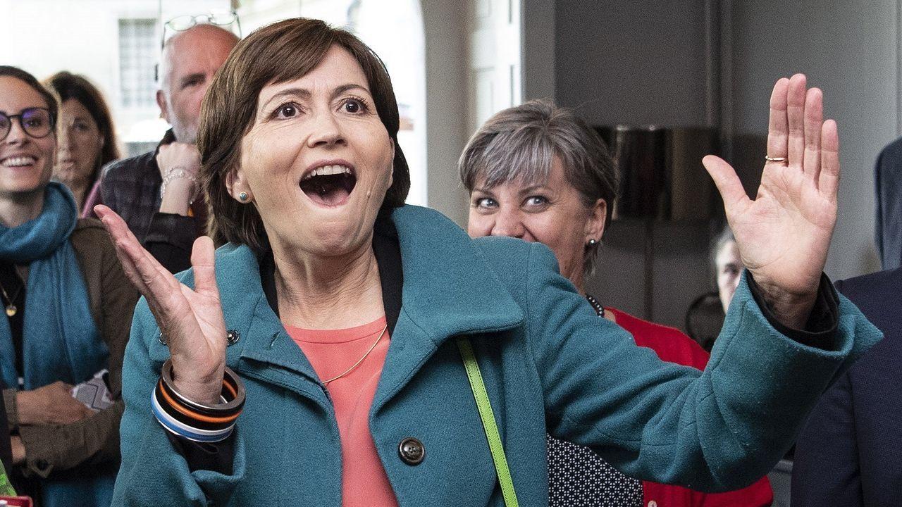 La líder de Los Verdes, Regula Rytz, celebra los resultados