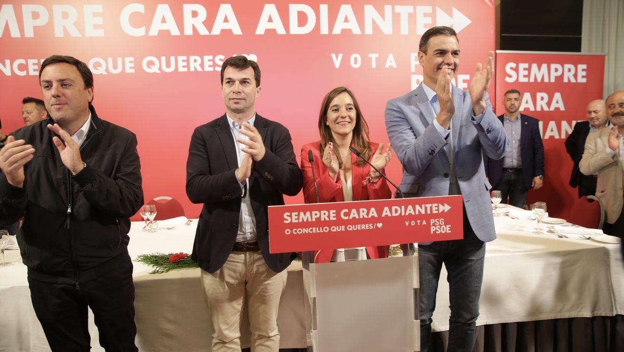 La visita de Pedro Sánchez a A Coruña, en fotos