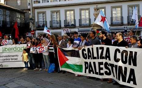La resistencia de la Franja de Gaza.O Toural será el lugar de las movilizaciones como la de ayer.