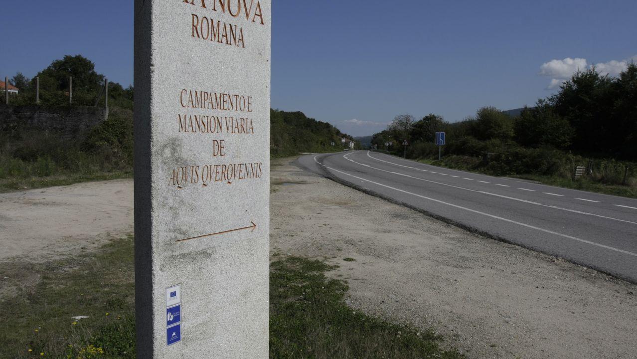 Toma de posesión de la alcaldesa de Bande Sandra Quintás.Imagen de archivo de la zona de la carretera OU-540 en Santa Comba y Porto Quintela, de Bande.