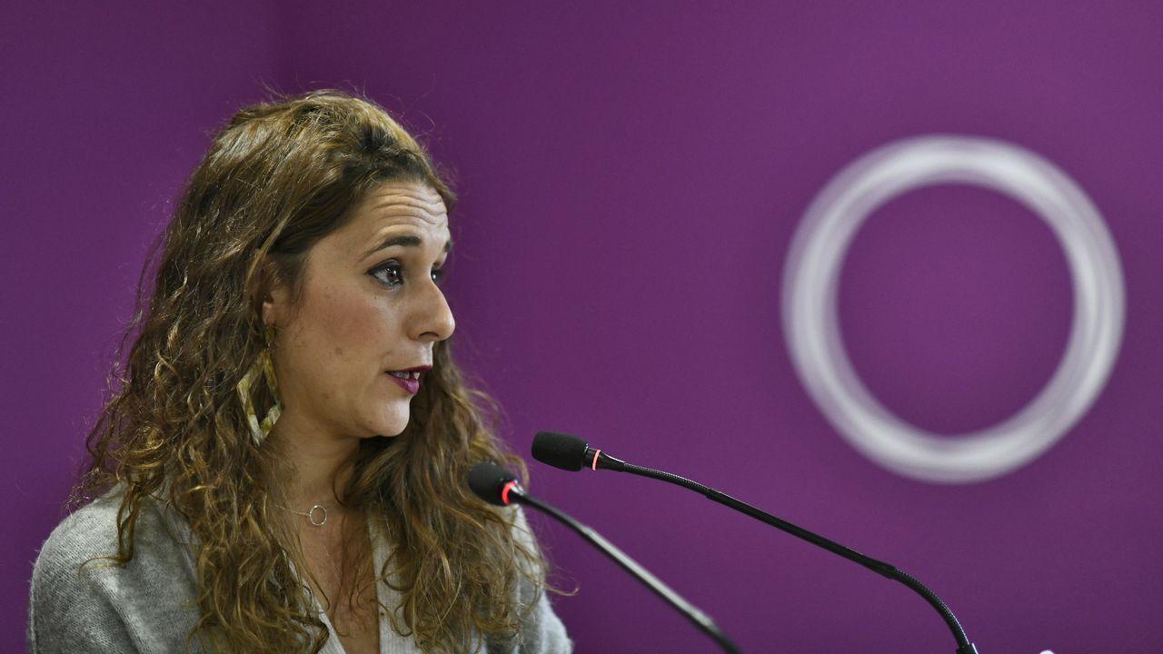 La diputada por Cádiz de Podemos en el Congreso de los Diputados  y portavoz del grupo morado, Noelia Vera