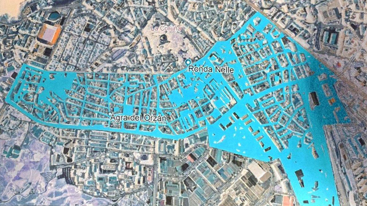 benestar.Mapa de las zonas y calles de A Coruña afectadas por las restricciones por el covid-19
