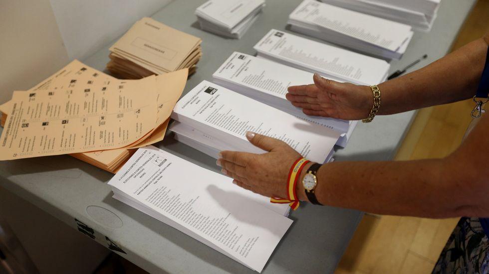 Colegio electoral en Pozuelo de Alarcón (Madrid)