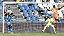 Obeng remata para hacer el 2-2 ante el Deportivo