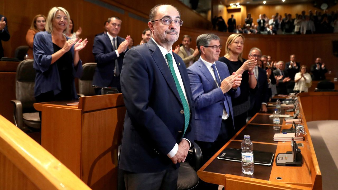 Javier Lambán ha sido reelegido como presidente de Aragón gracias al apoyo de cinco partidos