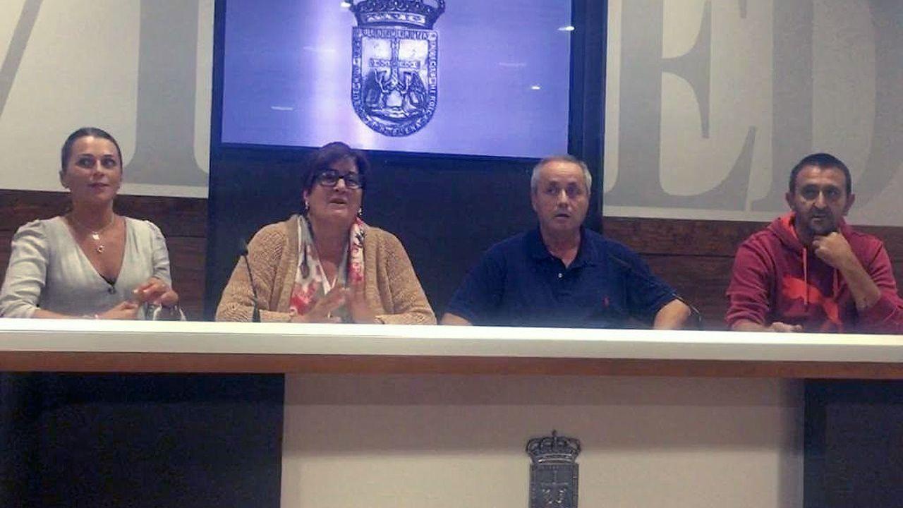 Representantes del comité de empresa del Ayuntamiento de Oviedo