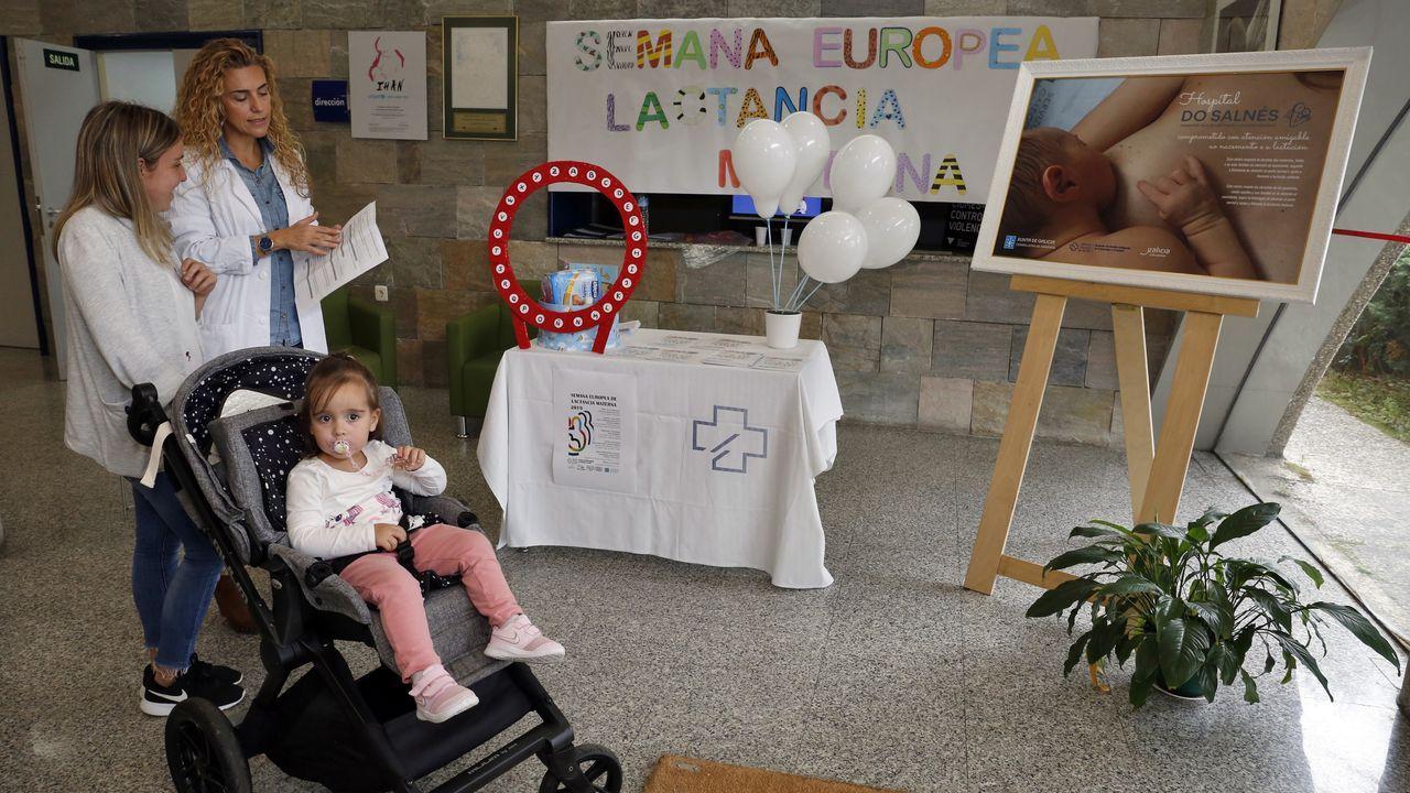 La pequeña Ellah con su madre Naiara.Luisa López, embarazada de cinco meses de su primer hijo, Miguel, al que perdió en la semana 36 de gestación