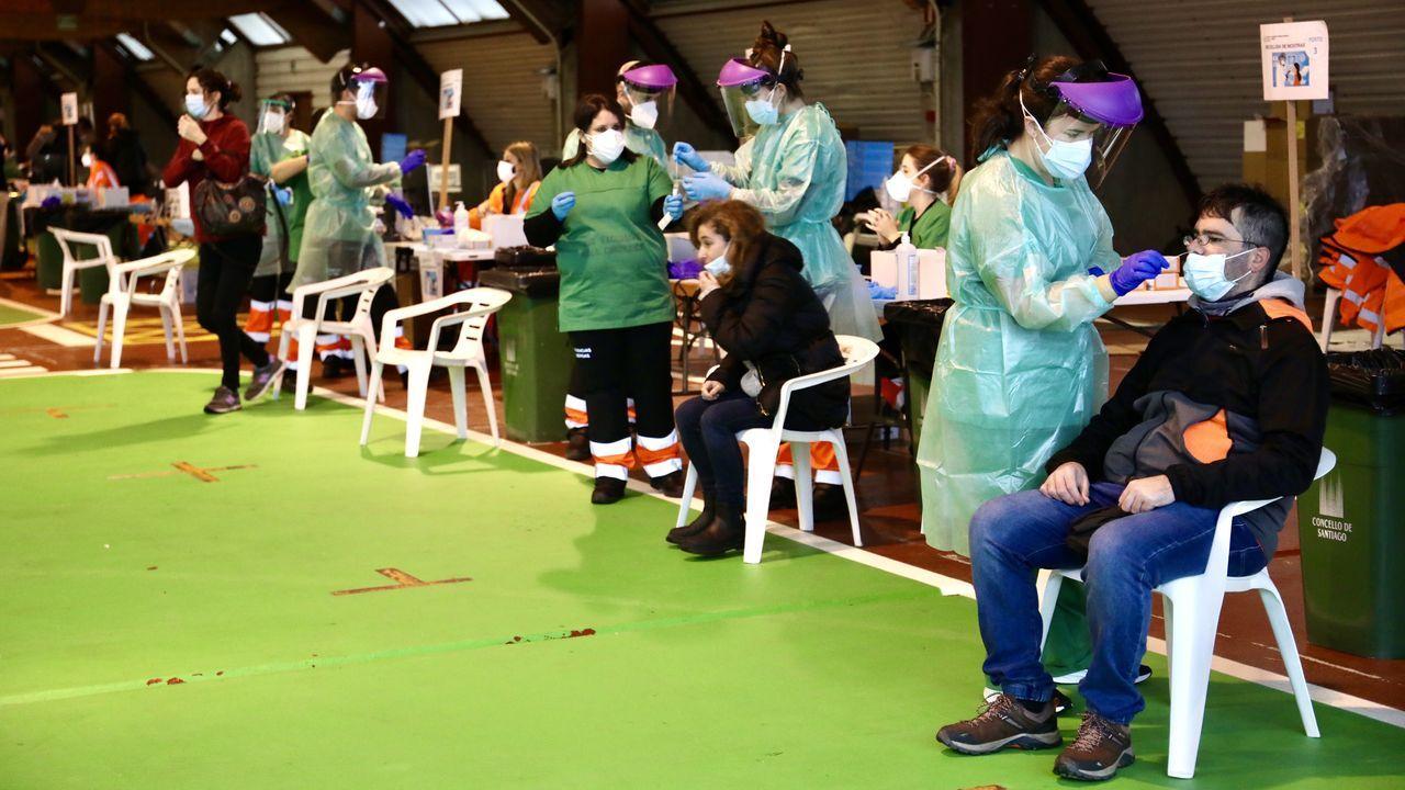 Arranca el cribado en el recinto ferial de Amio para identificar casos no diagnosticados de covid-19 en Santiago.La estación de Verdía