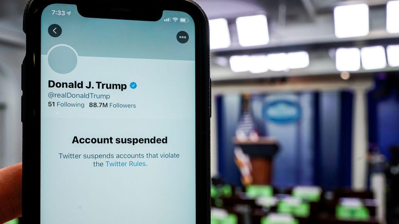 Cuenta de Twitter de Trump suspendida