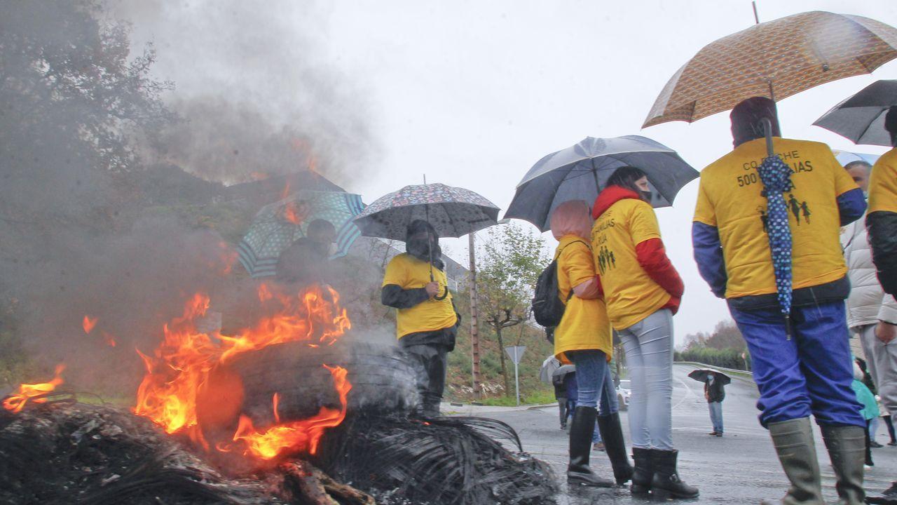 Imagen reciente de una movilización de la plantilla de As Somozas