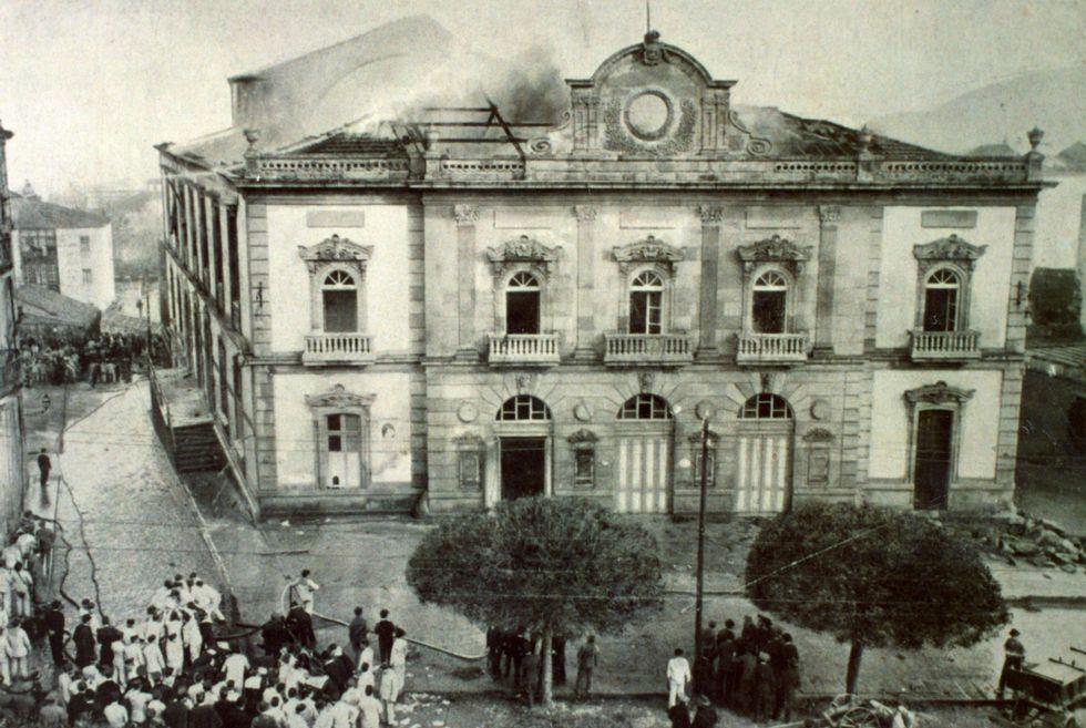 El teatro estaba donde ahora se ubica el de Afundación.