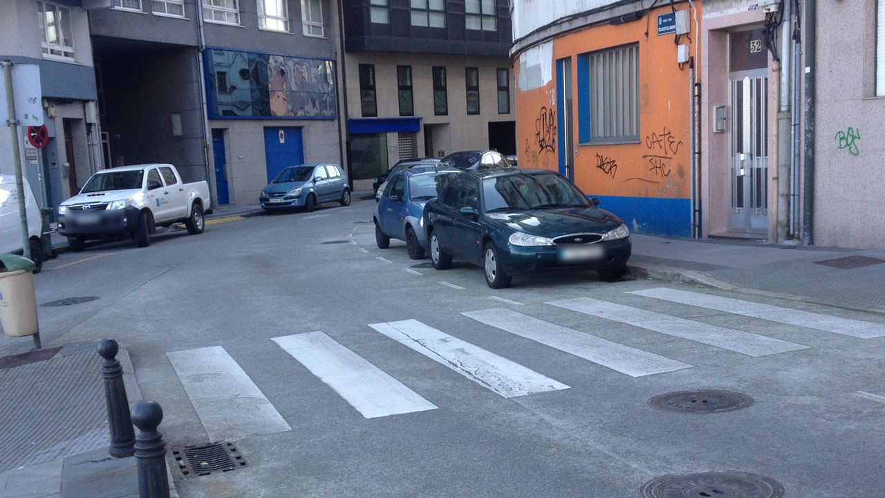 Estos son los pasos de peatones más peligrosos.«Sempre Xonxa», de Chano Piñeiro
