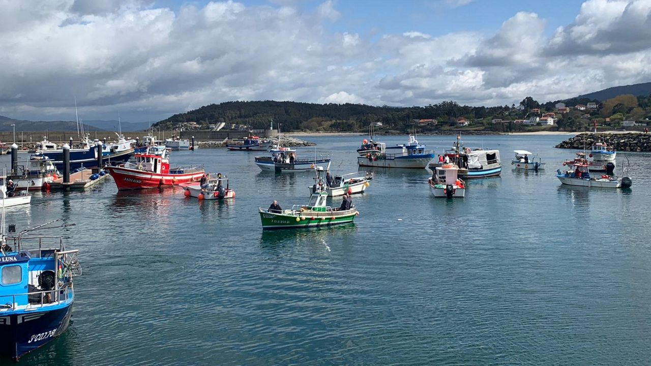 Concentración de la flota en Porto do Son