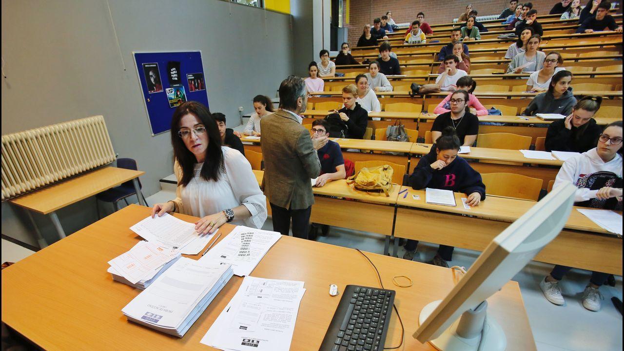 Pruebas de Ebau en la Facultade de Ciencias Sociais de Pontevedra