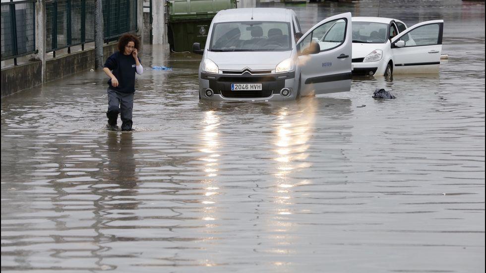 Inundaciones en O Caramuxo, en Vigo.