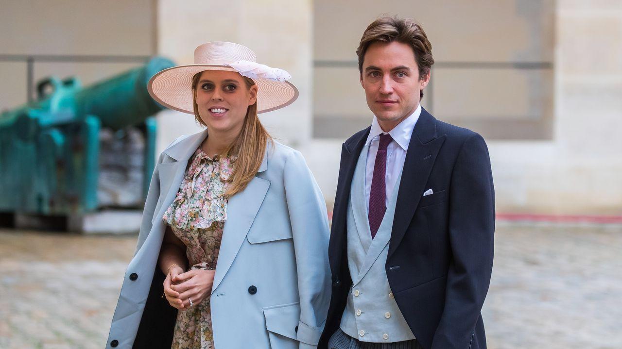 Beatriz de York y Edoardo Mapelli Mozzi, acudieron al enlace