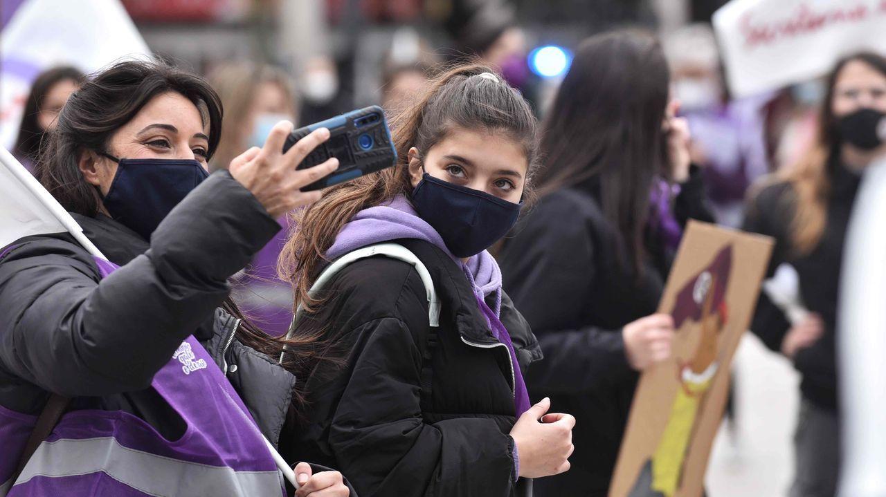 Las imágenes del 8M en A Coruña