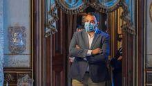 El presidente del Principado de Asturias, Adrián Barbón, visita el palacio Quinta de Selgas, en Cudillero