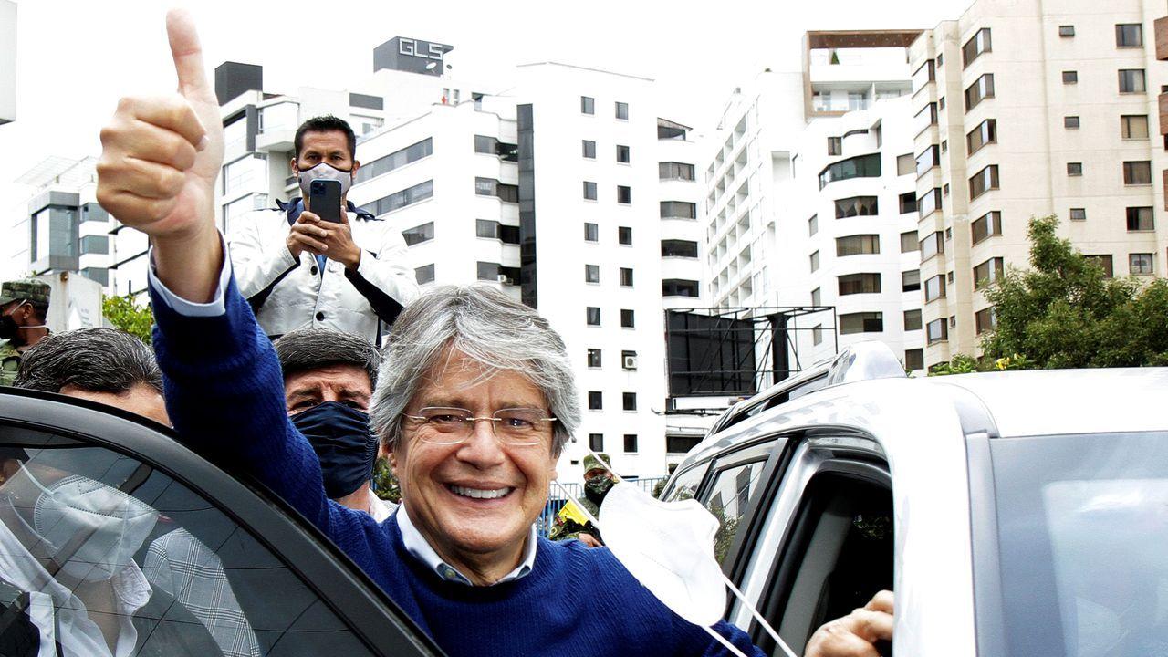 El candidato Guillermo Lasso