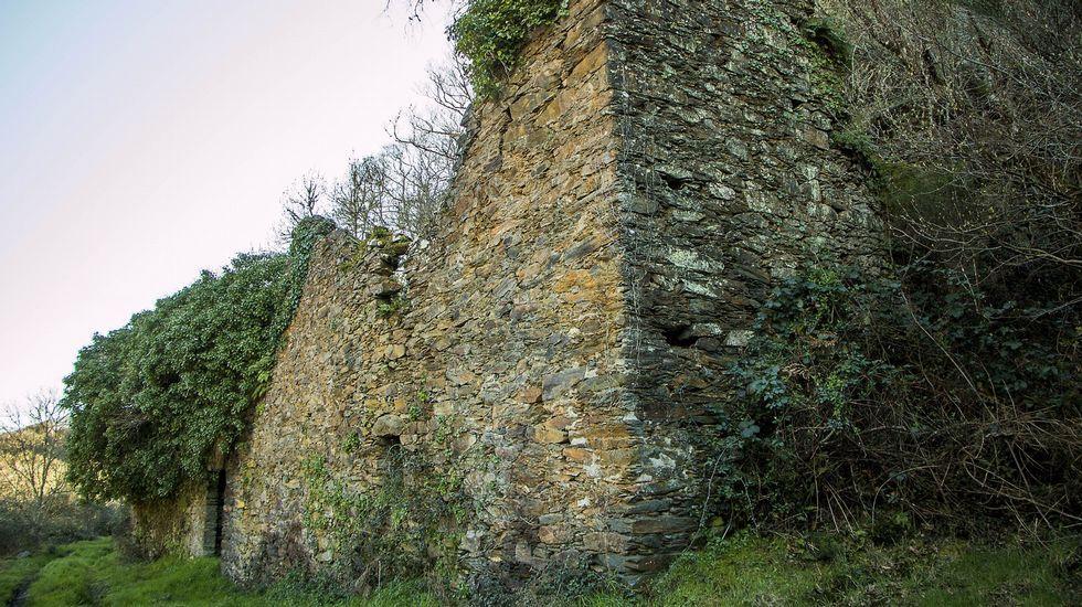Ruinas de la ferrería de Barxa de Lor, en el municipio de A Pobra do Brollón