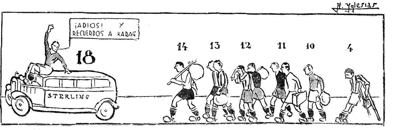 Tira cómica en el diario Región. 14 de febrero de 1932