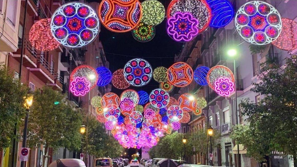Iluminación en las Fallas de Valencia