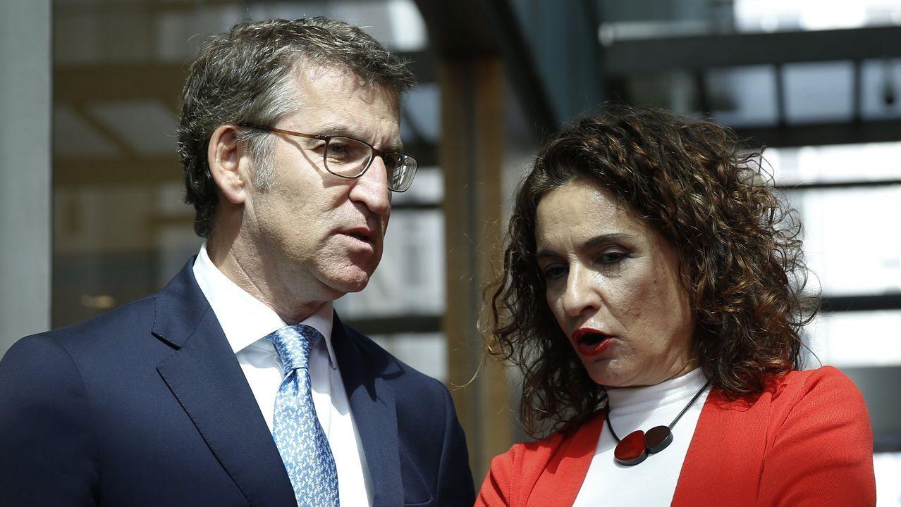 Conferencia de Presidentes en La Rioja.El presidente de la Xunta, Alberto Núñez Feijoo, y la ministra de Hacienda, Maria Jesus Montero, en un acto el año pasado