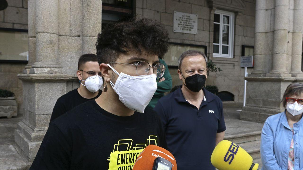 El secretario de Xuventudes Socialistas, Xurxo Doval, critica la gestión de Feijoo en la pandemia y la culpabilización de la juventud