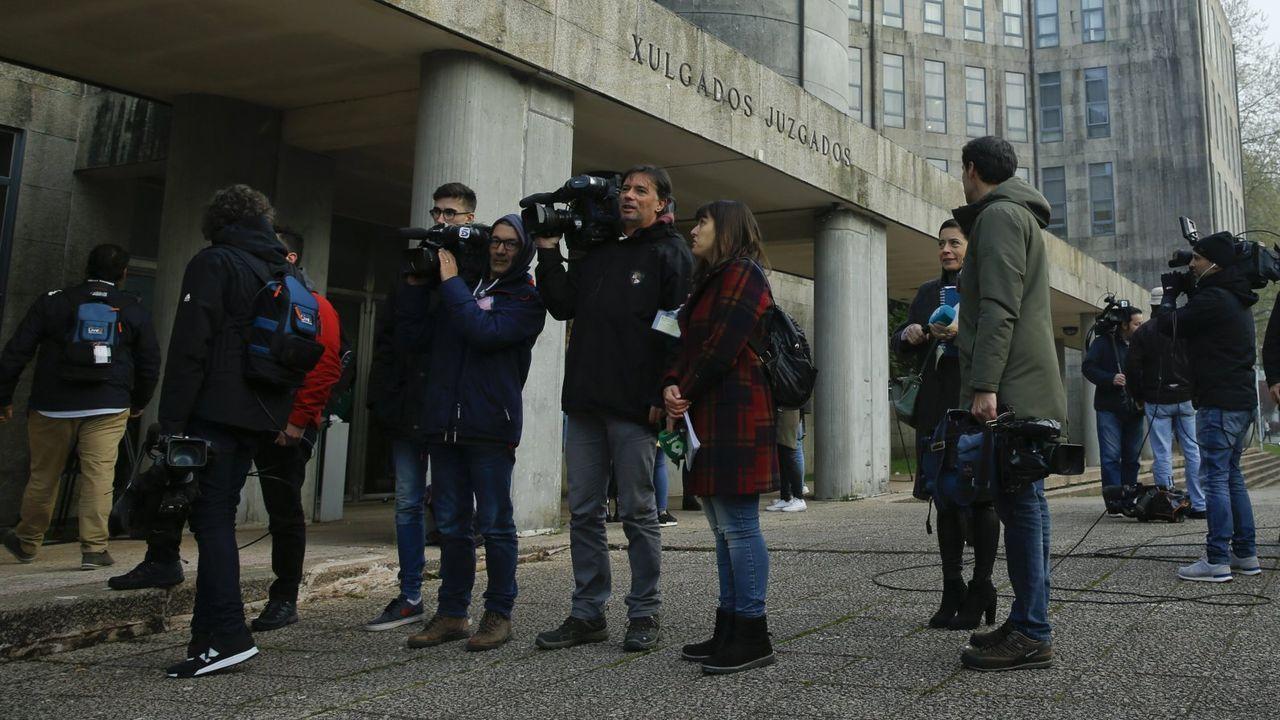 El dispositivo de la agresión en la ronda de Nelle, en imágenes.En una imagen de archivo, edificio principal de los juzgados de Santiago, en el que tiene su sede la sección sexta de la Audiencia Provincial