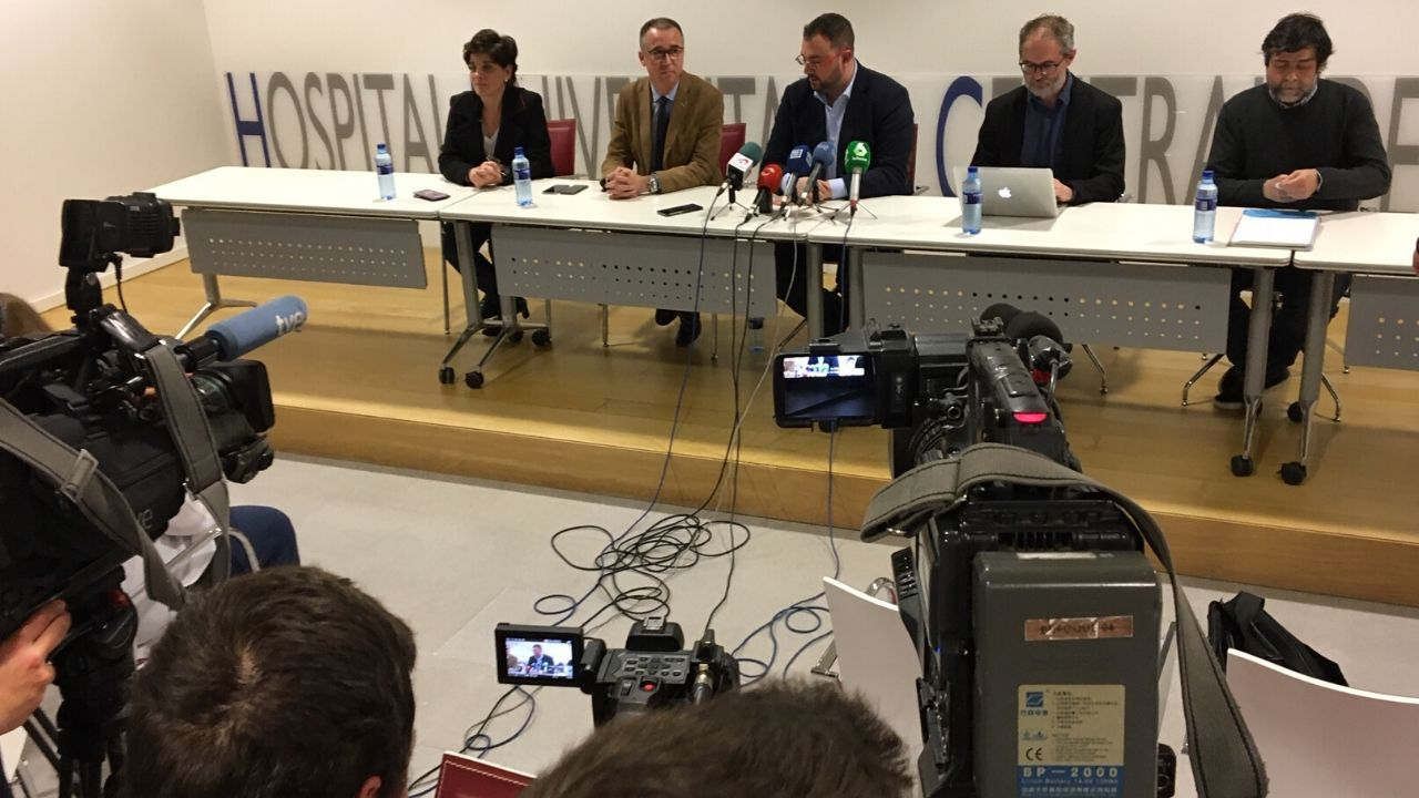 Rueda de prensa del primer caso de coronavirus en Asturias