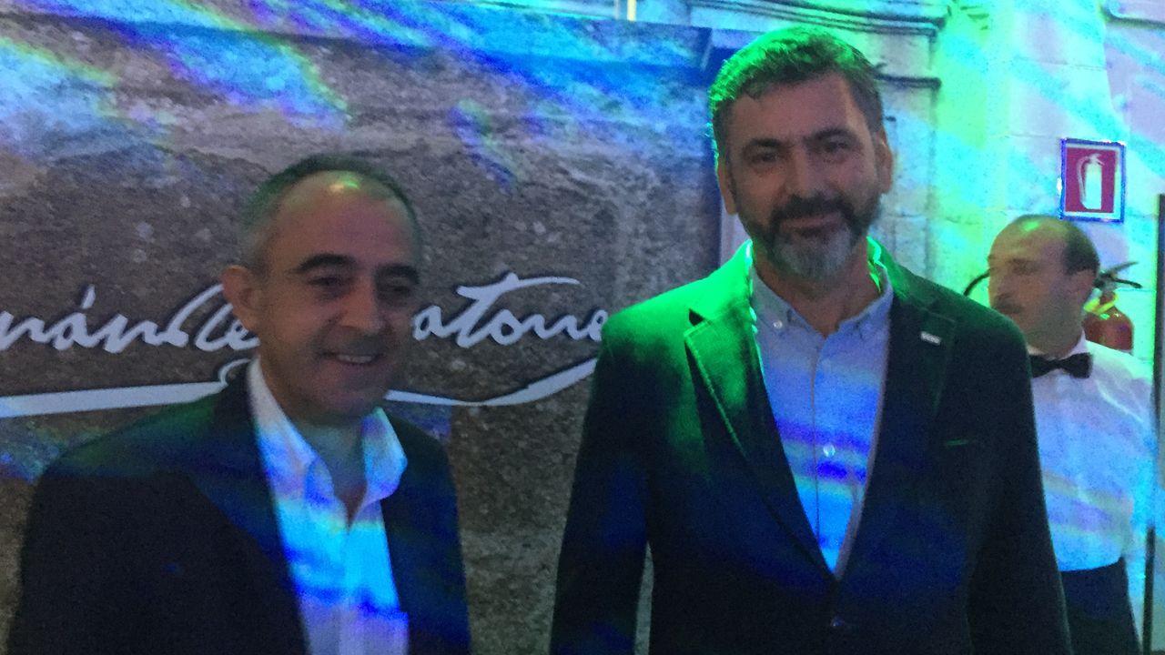 El secretario xeral de UGT, José Antonio Gómez, con el CC.OO., Ramón Sarmiento