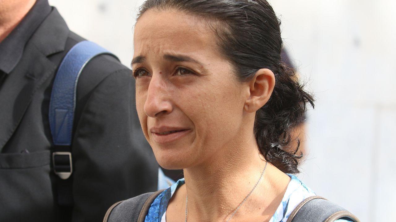 Patricia Ramírez, a su llegada a la Audiencia Provincial de Almería