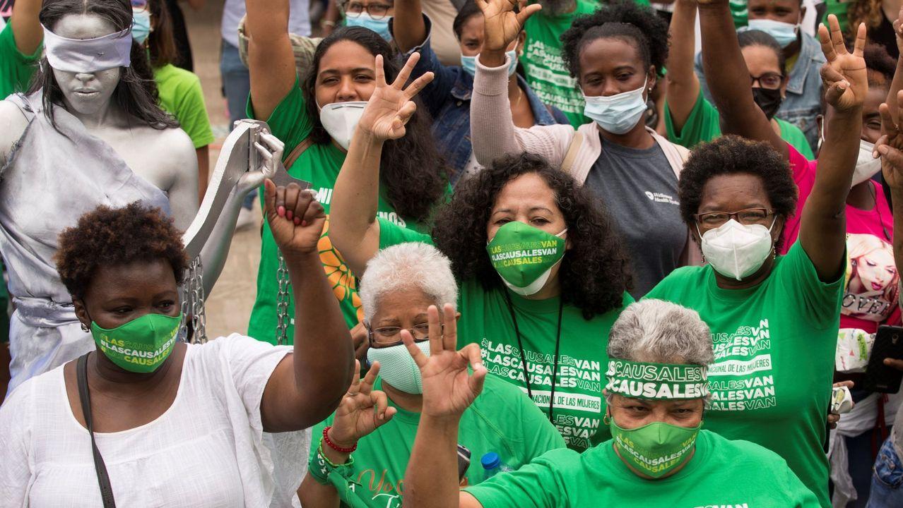Participantes en el campamento feminista en una imagen del pasado 11 de marzo
