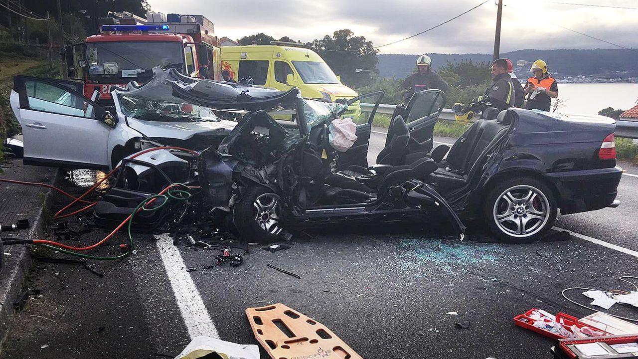 Seis personas resultaron heridas de gravedad en un accidente registrado en Taramancos en agosto. Uno de ellos, vecino de Porto do Son, murió unos días después en el hospital