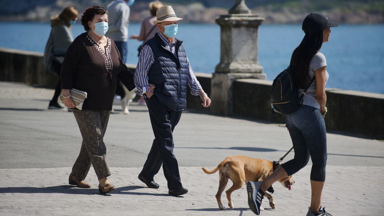 En A Coruña se multiplicaron los paseos