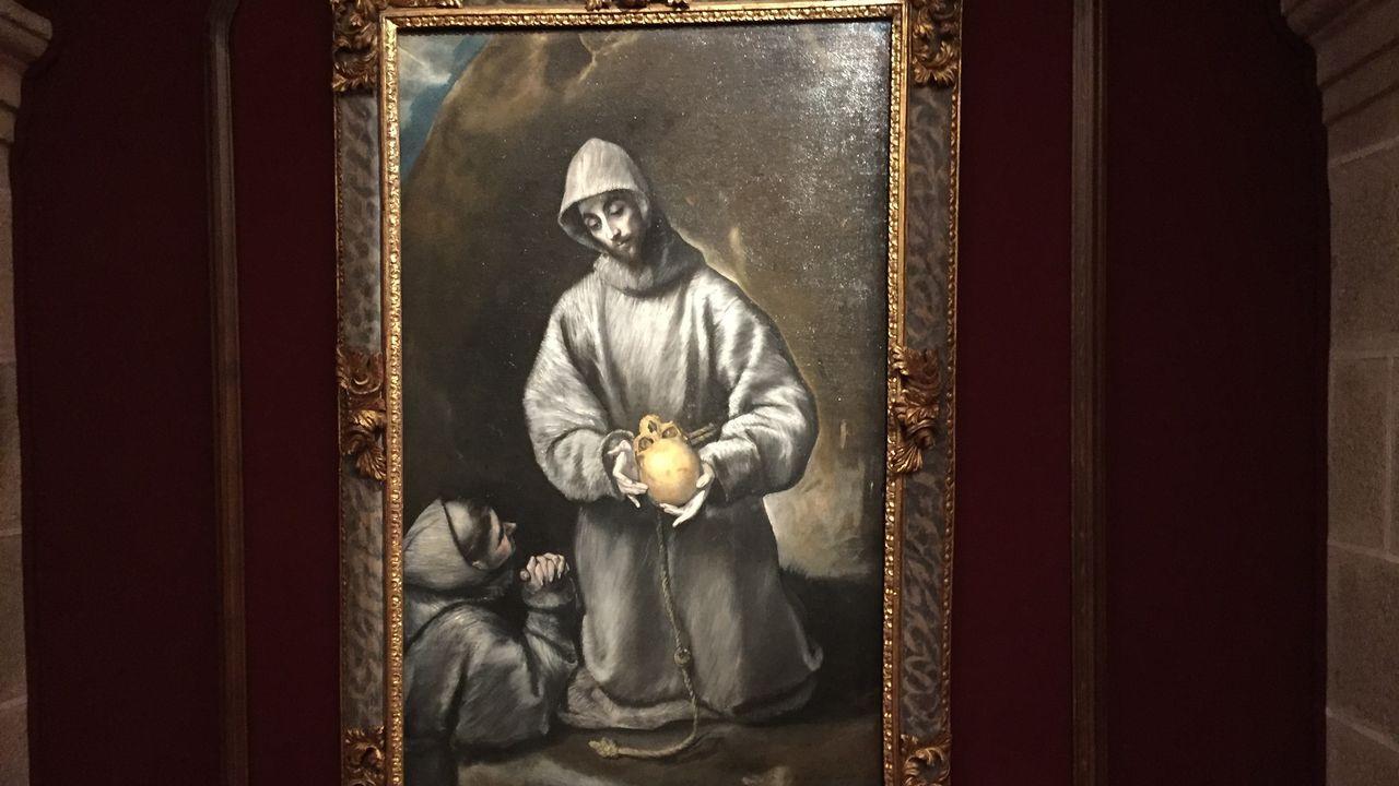 Óleo sobre lienzo original de El Greco, con la imagen de san Francisco de Asís