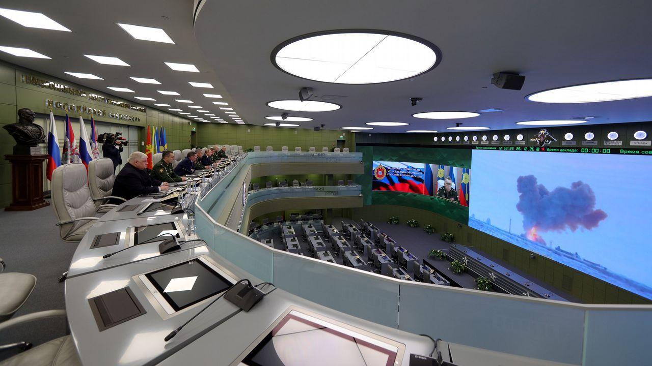 Putin acudió al Centro Nacional de Mando para supervisar el lanzamiento del misil Avangard