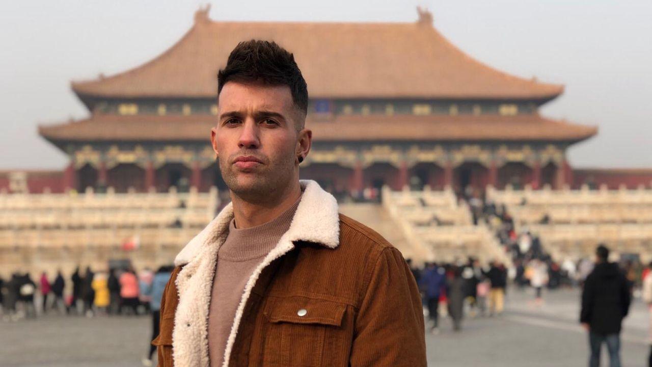 Manuel Angel Méndez Díaz en la ciudad prohibida en Pekín
